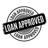 Loan Approved rubber stamp Stock Image
