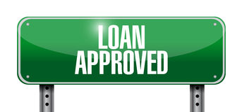 Loan approved sign illustration design Royalty Free Stock Photos