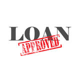 Loan Approved Word Stamp. Loan word with approved stamped across it Royalty Free Stock Photos