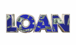 Loan Borrow Money Cash Apply Mortgage Financing. 3d Illustration Stock Images