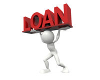 Loan burden. 3D Hight Quality Image: Loan burden Stock Photography