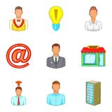 Loan for business icons set, cartoon style Stock Image