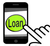 Loan Button Displays Lending Or Providing Advance Stock Photos