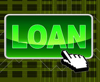 Loan Button Shows World Wide Web And Loaning Royalty Free Stock Image