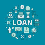 Loan circular colorful illustration Royalty Free Stock Photos
