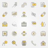 Loan colorful icons Royalty Free Stock Images