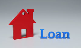 Loan Concept - 3D Rendering Image. Isolated on White Stock Photo
