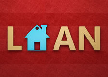 Loan Concept - 3D Rendering Image. Isolated on White Stock Images