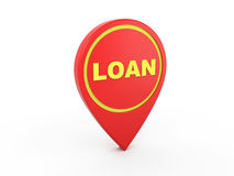 Loan Concept - 3D Rendering Image. Isolated on White Stock Photos