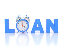 Loan concept - 3D Rendering Image. Isolated on White Stock Image