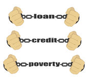 Loan, credit, poverty abstract sign Royalty Free Stock Photography