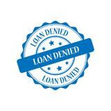 Loan denied stamp illustration. Loan denied blue stamp seal illustration design stock illustration