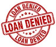 Loan denied red grunge round vintage stamp. Loan denied red grunge round vintage rubber stamp vector illustration