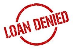 Loan denied stamp. Loan denied round grunge stamp. loan denied sign. loan denied vector illustration