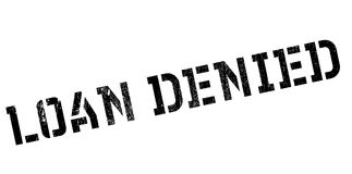 Loan denied rubber stamp Royalty Free Stock Photos