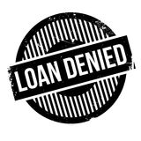 Loan denied rubber stamp Stock Photo