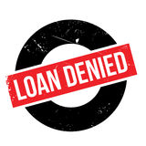 Loan denied rubber stamp Royalty Free Stock Images
