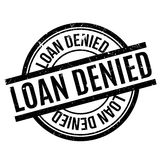 Loan Denied rubber stamp. Grunge design with dust scratches. Effects can be easily removed for a clean, crisp look. Color is easily changed stock illustration