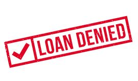 Loan Denied rubber stamp Stock Image