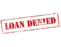 Loan denied. Rubber stamp with text loan denied inside,  illustration Royalty Free Stock Image