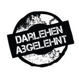 Loan denied stamp in german. Loan denied black stamp in german language. Sign, label, sticker royalty free illustration