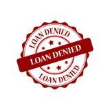 Loan denied stamp illustration. Loan denied red stamp seal illustration design royalty free illustration