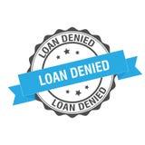 Loan denied stamp illustration. Loan denied stamp seal illustration design royalty free illustration