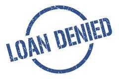 Loan denied stamp. Loan denied round grunge stamp. loan denied sign. loan denied royalty free illustration