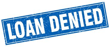 Loan denied stamp. Loan denied square grunge stamp. loan denied sign. loan denied stock illustration