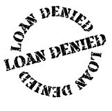 Loan denied stamp on white. Loan denied black stamp on white background. Sign, label, sticker vector illustration