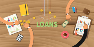 Loan finance application analyze data business Royalty Free Stock Photos