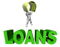 Loan Finance Means Render Lend And Borrowing 3d Rendering Royalty Free Stock Photo