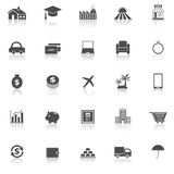 Loan icons with reflect on white background Stock Images