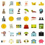 Loan icons set, flat style. Loan icons set. Flat style of 36 loan vector icons for web isolated on white background Royalty Free Stock Image