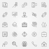 Loan icons set Royalty Free Stock Photography