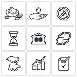 Loan icons. Vector Illustration. Royalty Free Stock Images