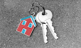 Loan. Key House Home Interior Key Ring Security Safety stock photo