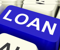 Loan Key Means Lending Or Loaning Royalty Free Stock Photo