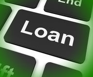 Loan Key Means Lending Or Providing Advance Royalty Free Stock Photography