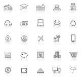 Loan line icons with reflect on white background Stock Photo