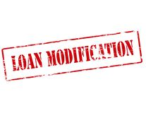 Loan modification. Rubber stamp with text loan modification inside,  illustration Stock Photo