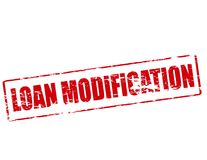 Loan modification. Rubber stamp with text loan modification inside,  illustration Royalty Free Stock Photography