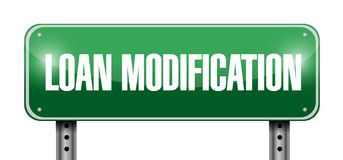 loan modification street sign illustration design Stock Images