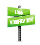 Loan modification street sign illustration design Royalty Free Stock Photography