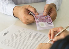 Loan money Stock Image