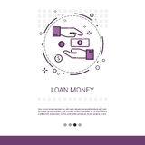 Loan Money Business Investment Web Banner With Copy Space. Vector Illustration Royalty Free Stock Photos