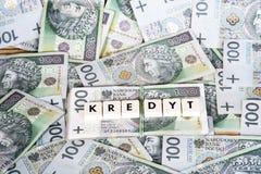 Loan Money - Polish currency Stock Photography