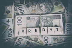 Loan Money - Polish currency Royalty Free Stock Photos