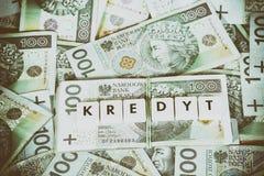 Loan Money - Polish currency Stock Photo