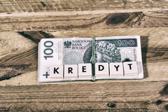 Loan Money - Polish currency Stock Images